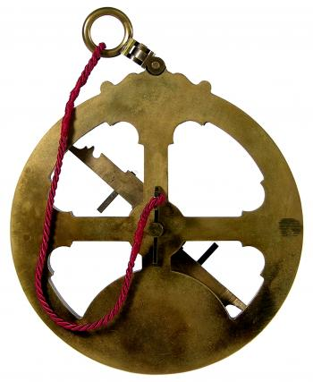 The 1580s Iberian astrolabe reproduction from the other side.