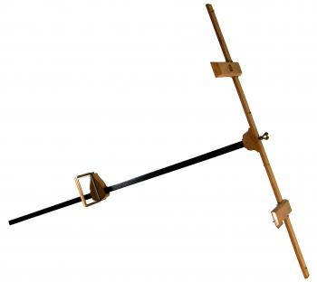 The 1660 Joost van Breen spiegelboog (mirror-staff) reconstruction.