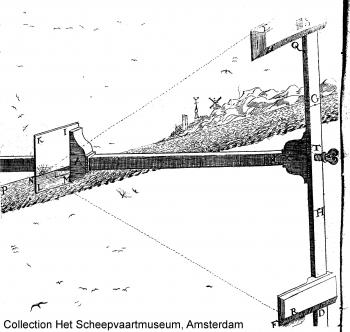 The spiegelboog (mirror-staff) sketch by Joost Van Breen