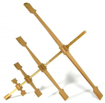 The 1661 Kronan cross-staff reproduction.