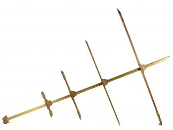 The 1661 Kronan cross-staff reproductionfrom a different angle.