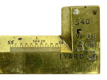 The right end of the standard yard showing the Indenture Number 1540.