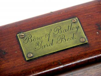 The Boro of Batley label on the case.