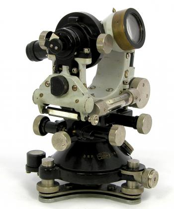 The 1924 Carl Zeiss Th1 optical theodolite.