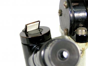 The micrometer has its own rotatable illumination system.