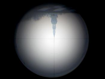 The inverted view through the telescope.