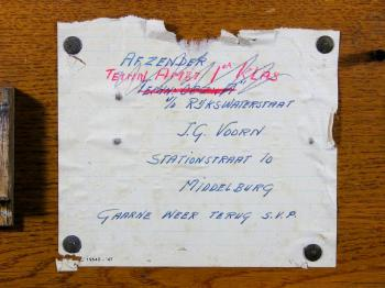 The label inside the box, note the shortened date ('47) at the lower left.