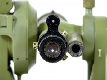 Rough aiming is done by a peep-sight and bead.