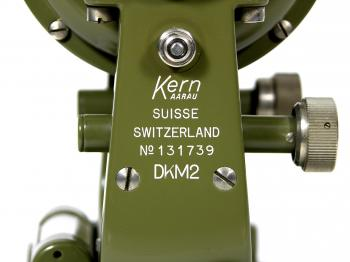 The Kern Aarau logo and serial number. Above the logo the electrical connector can be seen.