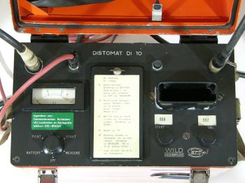 A close-up of the control-box of the Wild Di10.
