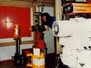 A peek into a similar survey cabin on the Delta Works (1983-1984).
