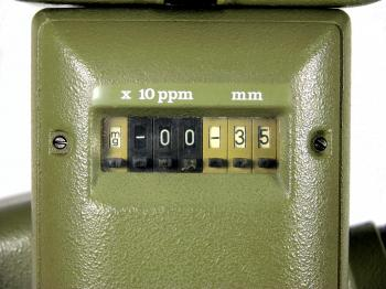 Adjustment of the units, ppm and prism constant is done using these switches.