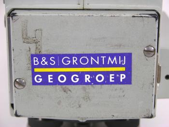 One of the batteries has a sticker of the previous owner, the private company Grontmij Geogroep.