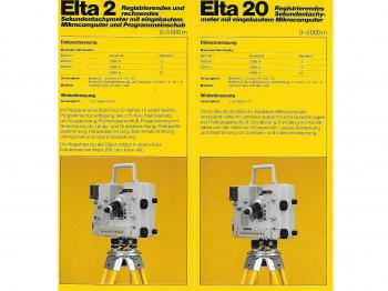 The 1981 brochure shows the Zeiss Elta 2 and Elta 20 side-by-side.