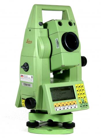 The Leica TCRA 1101 robotic total station.
