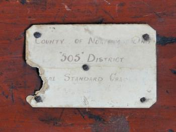 The 'County of Northumberland | ''505'' District | [Loc]al Standard Chain' label.