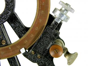 "One of the drum micrometers at 12°-17'-30""."