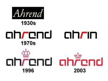 Ahrend logos over the years.
