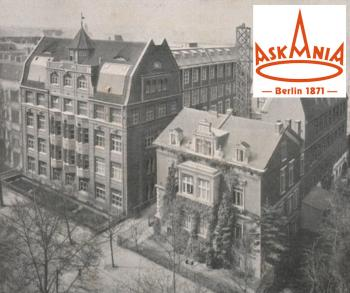 The Askania Bambergwerk in Berlin (1931 brochure with inset of the modern logo).