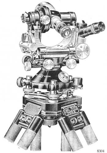 The Carl Zeiss Th1 optical theodolite.