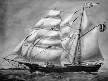 Painting of the brig Mary Stewart (collection The Mariners' Museum, Newport News, Virginia, USA).