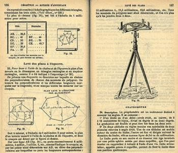 The graphometer in use on a tripod.