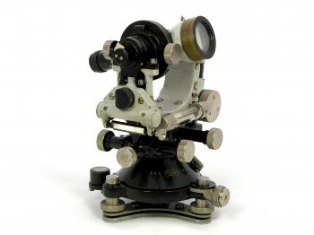 The 1924 Carl Zeiss ThI optical theodolite.