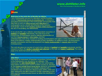 The lay-out of the old web site.